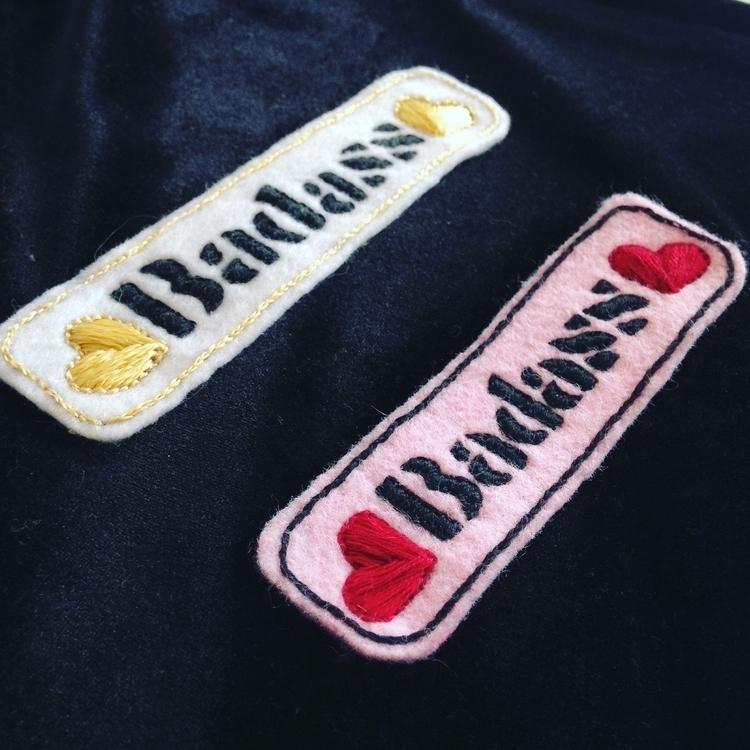 Pattern Badass - embroideredpatch - crossthepop | ello