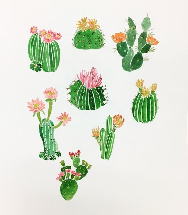 cactus flowers:blossom::hibiscu - igimidraws | ello