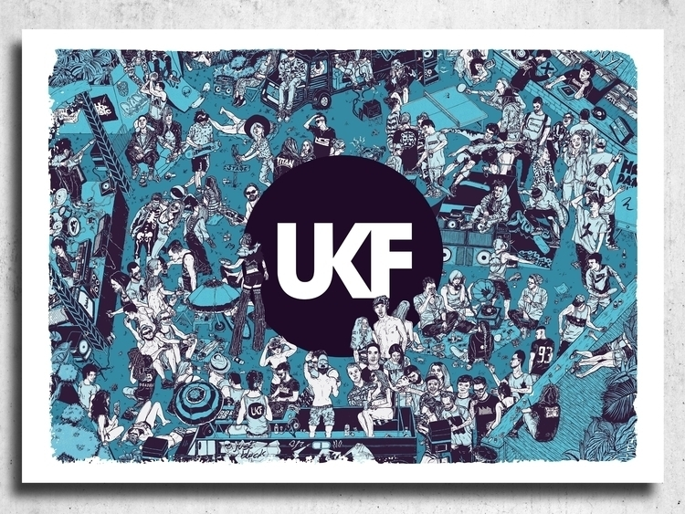 UKF - illustration, justblack, london - justblack | ello