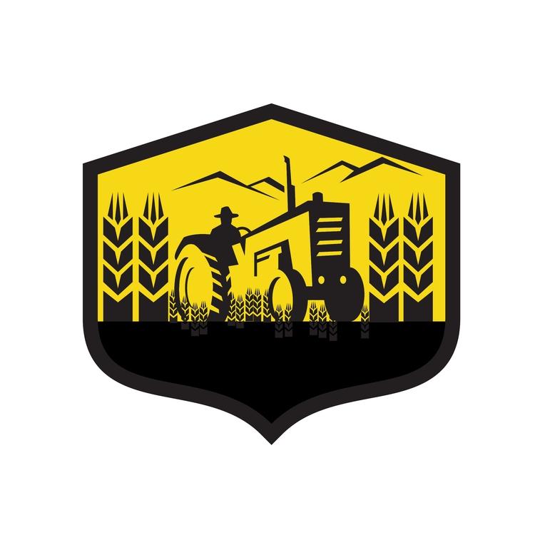Crest Retro - Tractor, Harvesting - patrimonio | ello