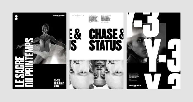 launched identity Printworks –  - onlystudiouk   ello
