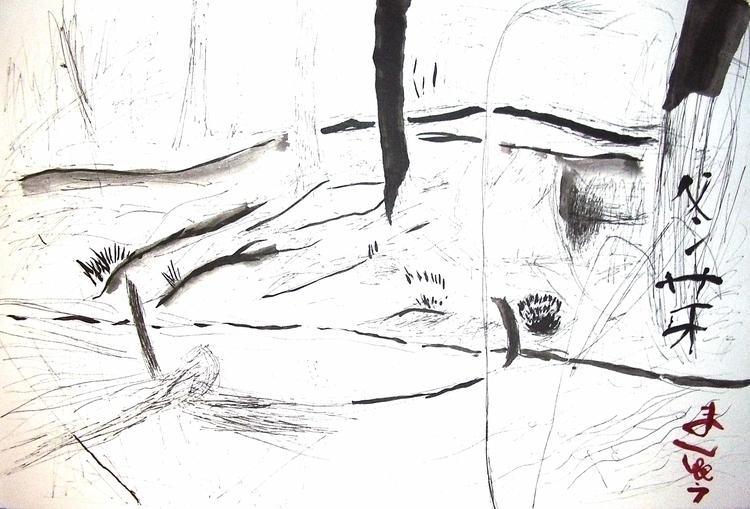 Buds Winter, ink , 12x18, $70,  - clan_morrison_art   ello