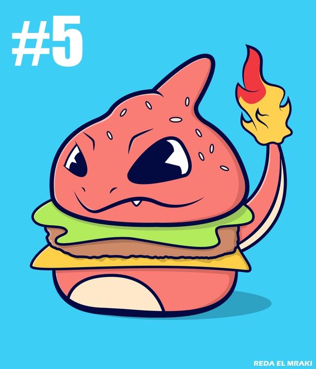 -Pokéburgers: Charmeleon - illustration - redaelmraki   ello