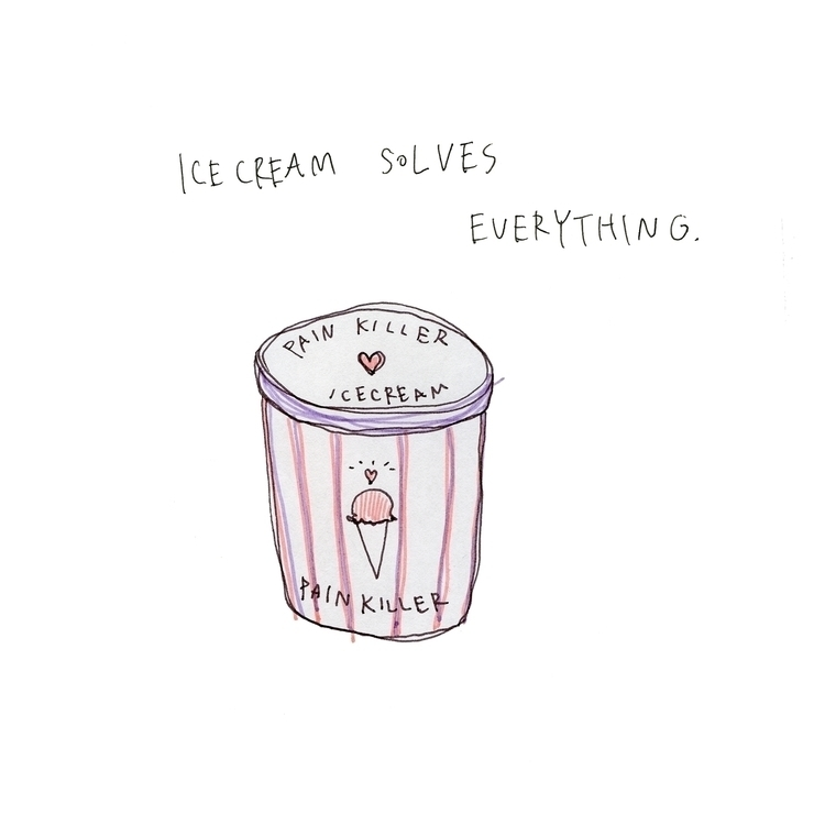 love icecream - doodling, drawing - youme9724 | ello