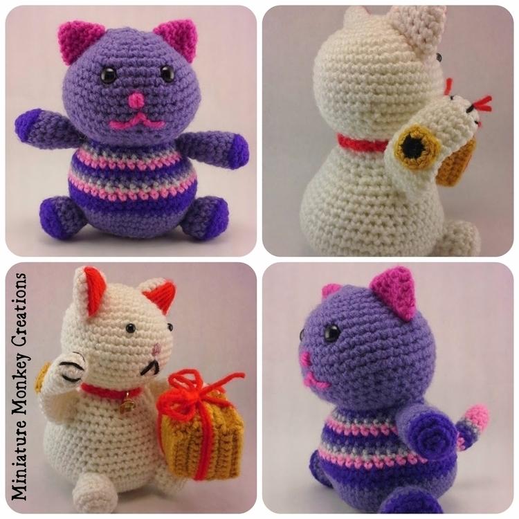 Meow! Custom order Fat Kitty, L - miniaturemonkeycreations | ello