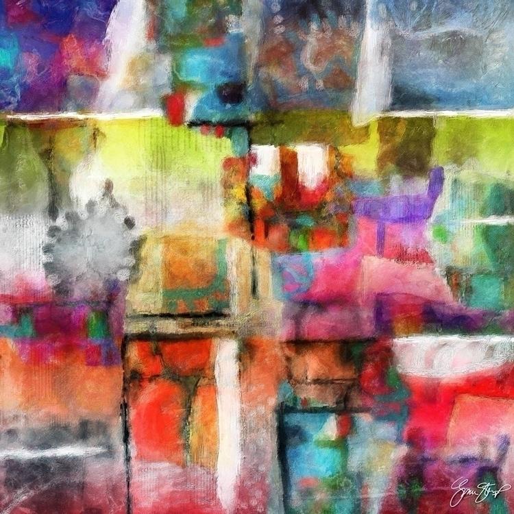 Time Shift - abstract, mixedmedia - ginastartup   ello