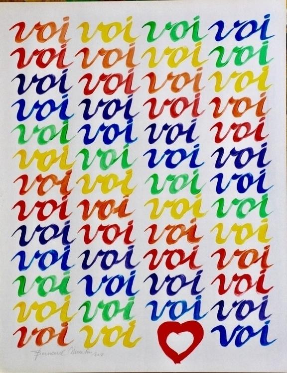 Jij 6 (voi). 2017 Acrylic paper - ben-peeters | ello
