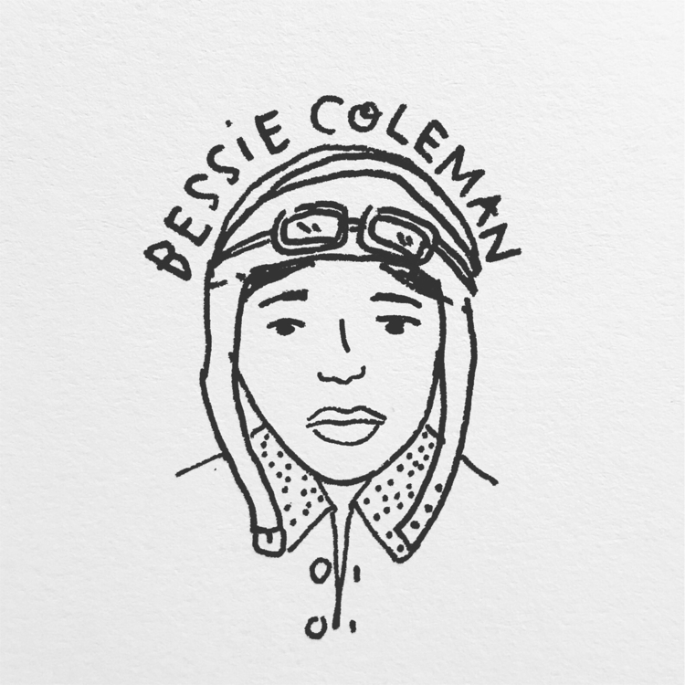 Daily Drawing - Bessie Coleman  - wawawawick | ello