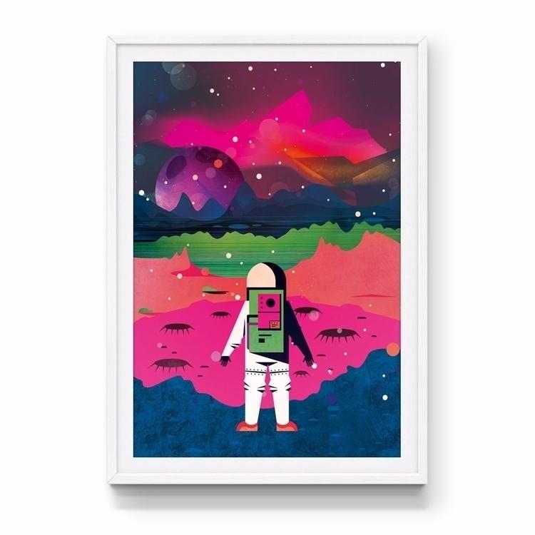 Moon art print - jamesenjoyrelax | ello