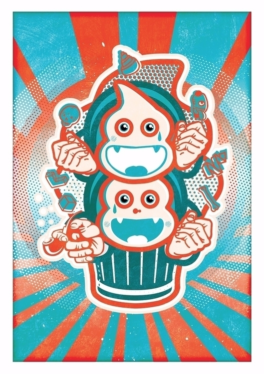 Cupcake propaganda illustration - jamesenjoyrelax | ello