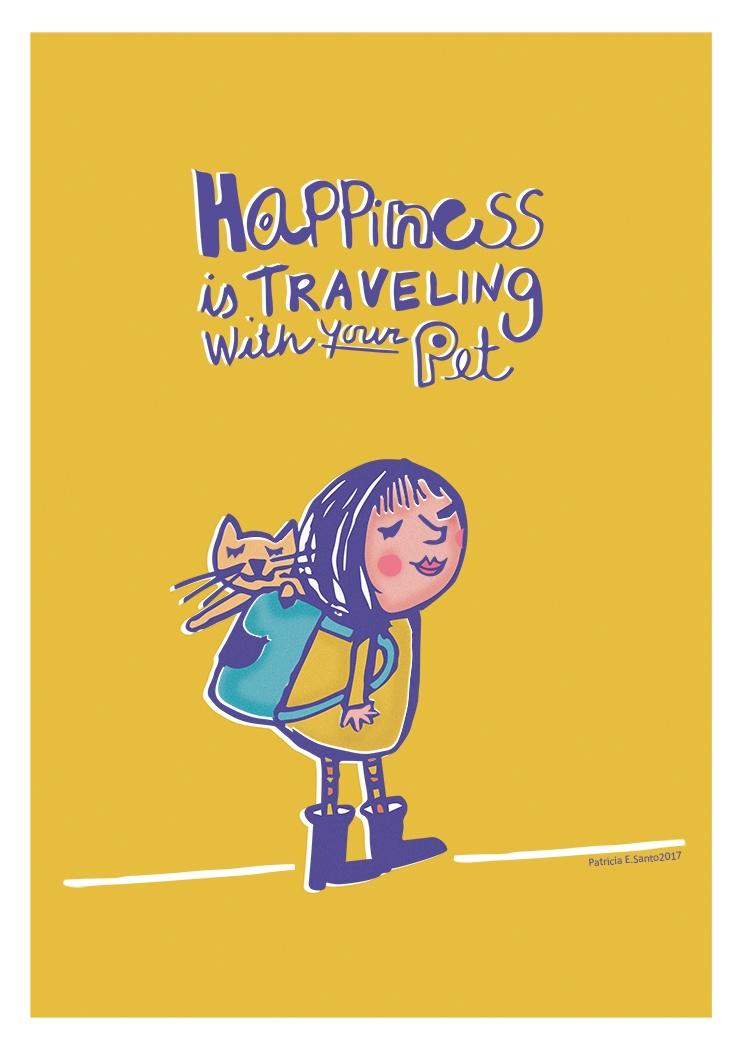 happy? Travel - pets, travel, childrensillustrations - patriciaes | ello