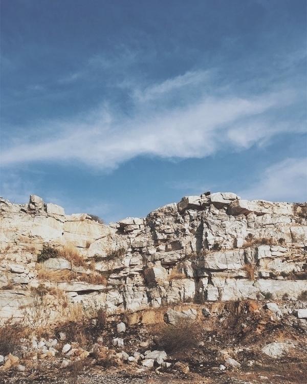 Quarry exploring - sky, color, cloud - riazhassan | ello