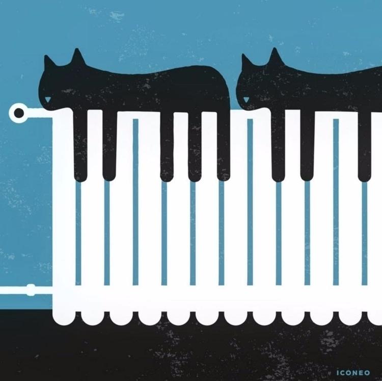 Piano Cats - music, illustration - iconeo | ello