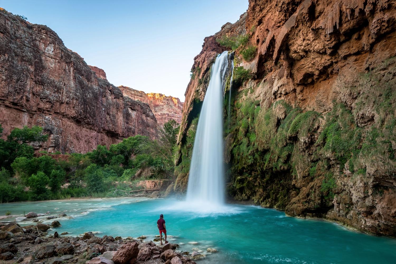 waterfall literal; Havasupai, p - chrisburkard | ello