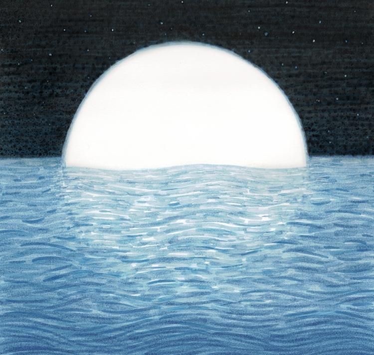 Baptism 8 - ink, art, drawing, moon - verymilestilmann | ello