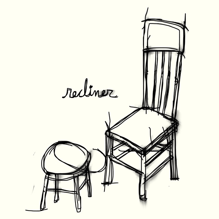 recliner - chair, sit, relax, illustration - catswilleatyou | ello