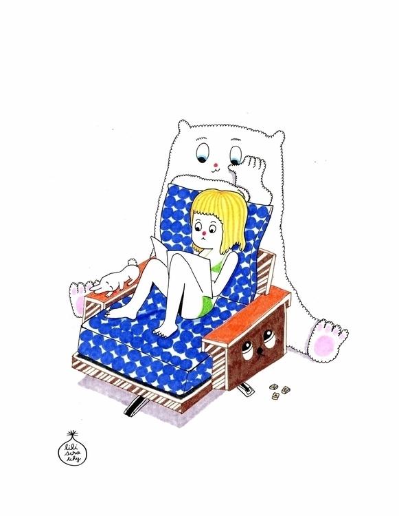 Favorite pastime. Illustration  - kseniaanske | ello