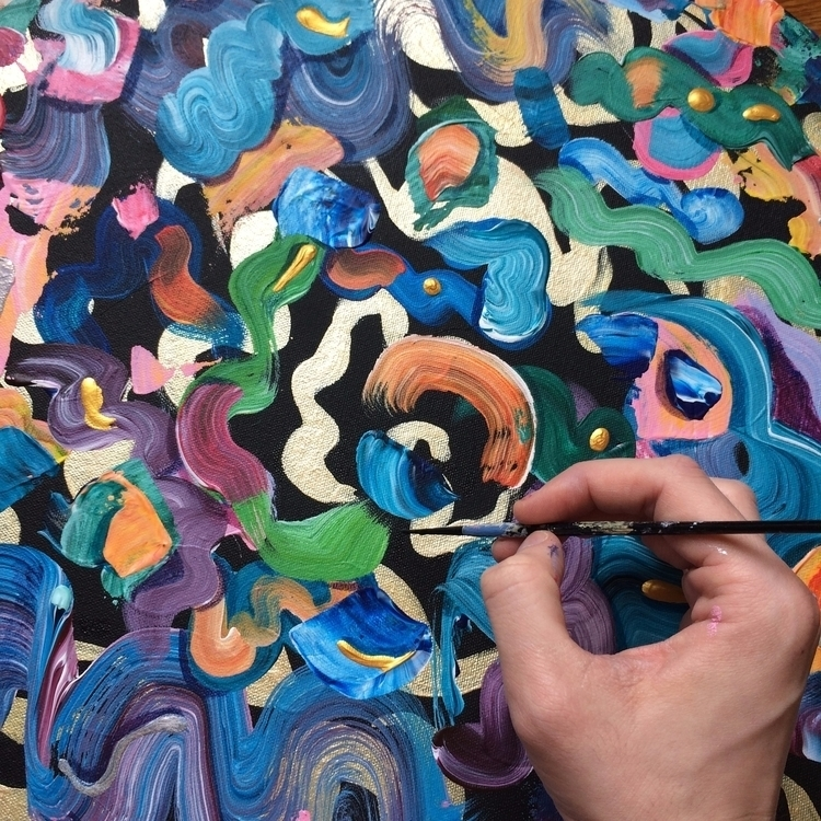Touching painting - art, wip, abstract - dhuston | ello