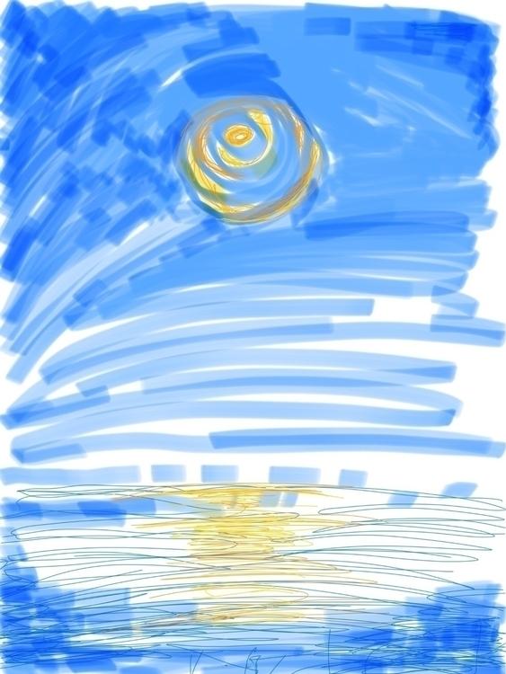 Hey paint eye. Painting Nora 2  - godenkind | ello