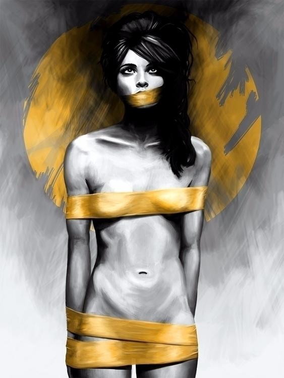 Censored - art, painting, digitalart - fconde | ello