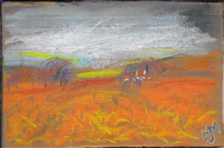 Hoosier cornfield, Pastel , 6.4 - clan_morrison_art | ello
