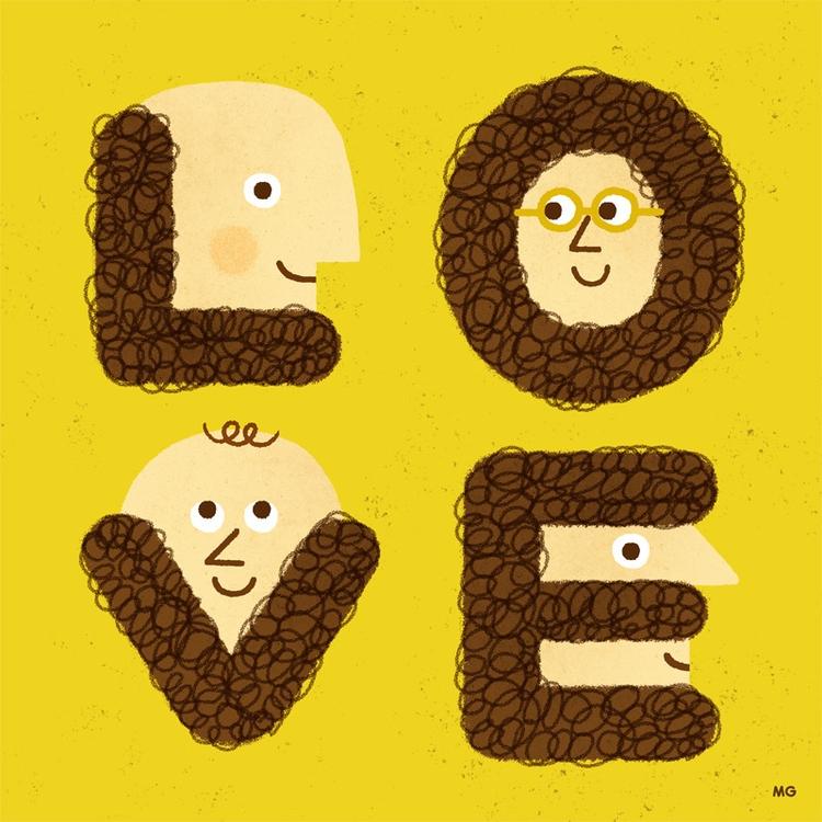 Love shave - beard, love, illustration - maurogatti | ello