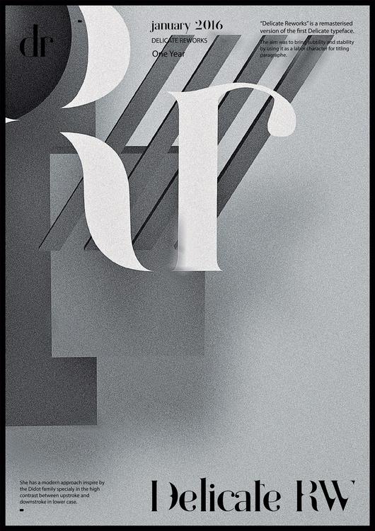 — Rr Delicate Reworks Typeface - faakpaat | ello