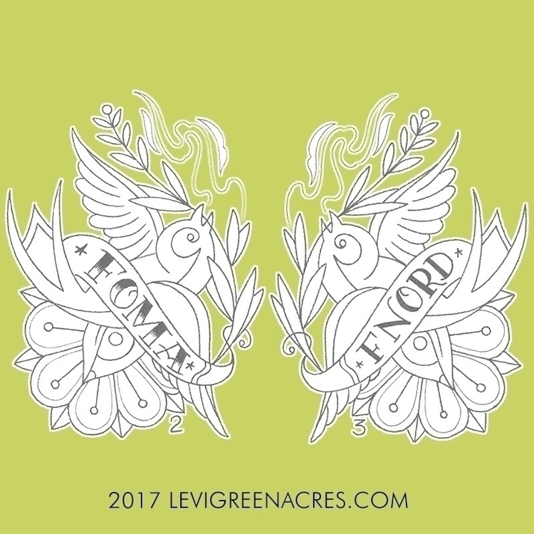 pair - liarbirds., fnords!, traditional - levigreenacres | ello