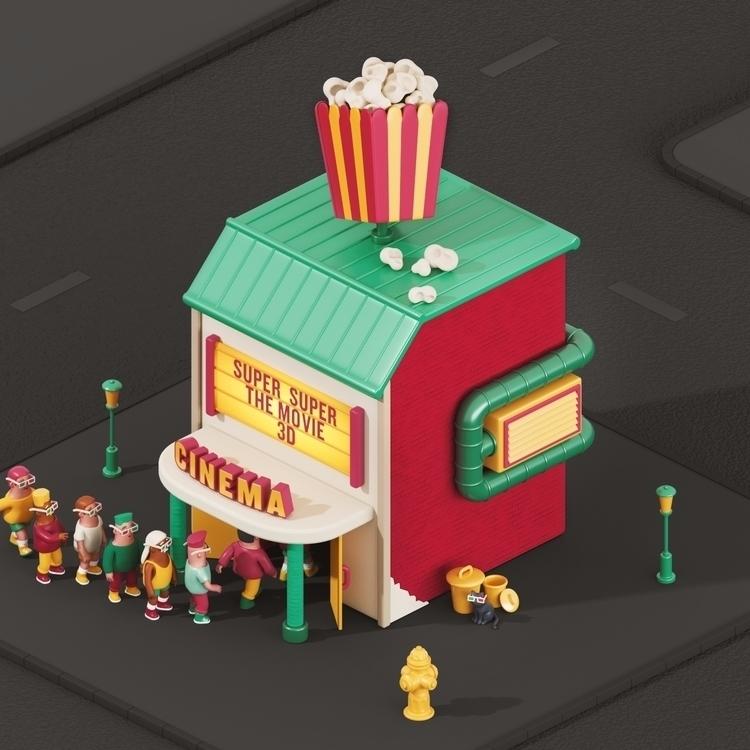 Cinema - 36daysoftype, 36days_C - yippiehey | ello