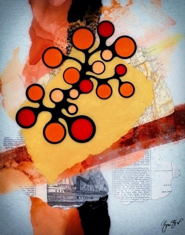 Connect Dots - abstract, art, mixedmedia - ginastartup | ello