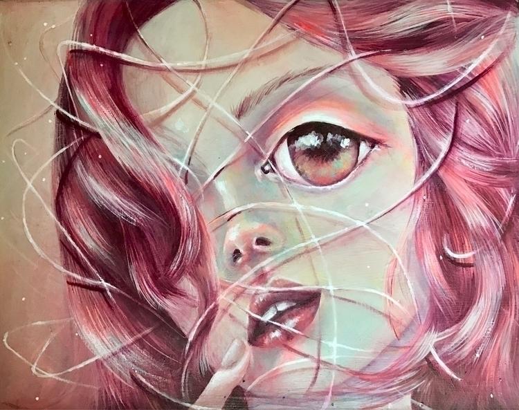 Life lines Acrylics canvas - art - caropepe_ | ello