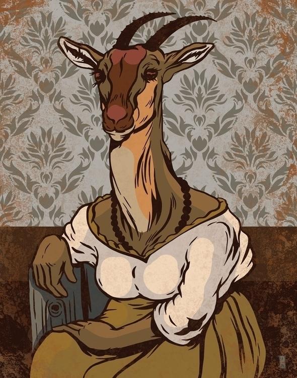 Gazelle - illustration - thomcat23 | ello