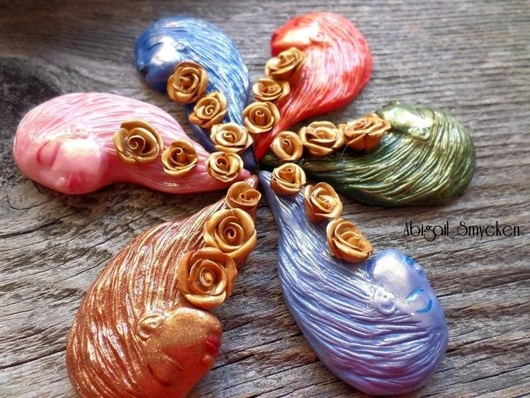 summer - handmade, artjewelry, flowers - abigailsmycken | ello