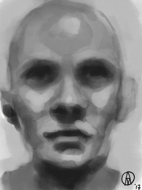 Scribbling - art, portrait, artist - arnevanoosterom | ello
