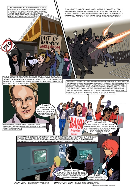 Antiwar Comic: Manufactured Cri - tonydigerolamo | ello