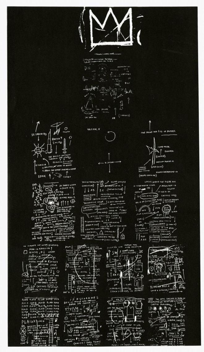 Jean-Michel Basquiat: Tuxedo, 1 - arthurboehm   ello