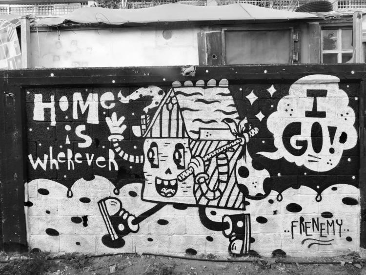 Home Mural Overstay Hostel Tel  - frenemy | ello