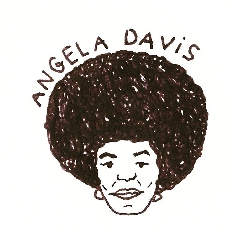 Daily Drawing - Angela Davis Bl - wawawawick | ello