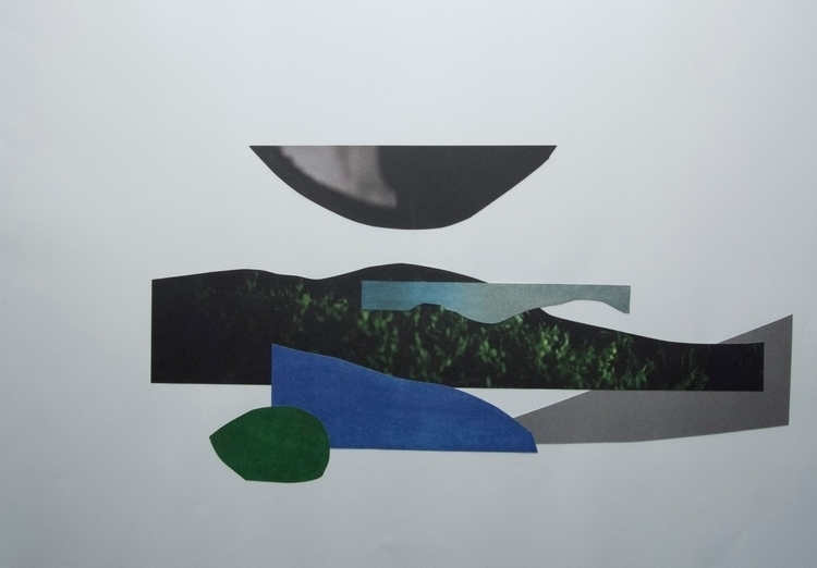 Blue Green, Collage - art, abstract - wrjenkinson | ello