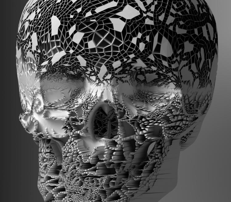 skulls-001 - 3d, 3dglitch, blender - srcxor | ello