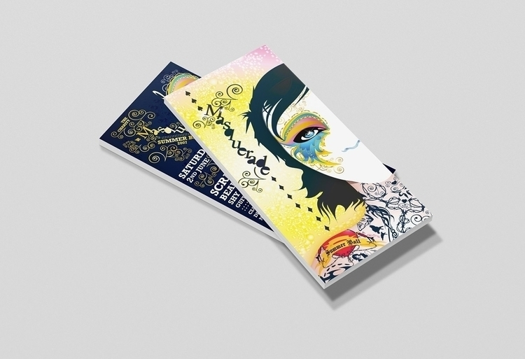 Masquerade summer ball flyer de - jamesenjoyrelax | ello