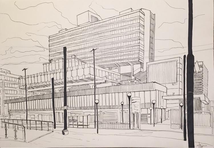 A3 - TheCentre, Architecture, Drawing. - greentect | ello