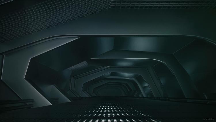Dark tunnel / shapes volumes - cg - robob3ar | ello