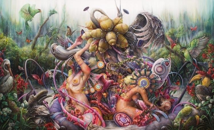 Eden 54x88 oil canvas 2016 - hannahfyata | ello