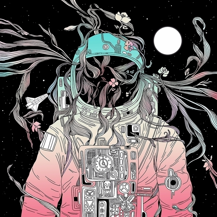 Life Invading Space - illustration - normanduenas | ello