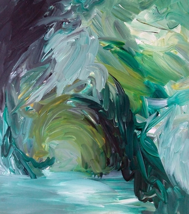Cave, abstract painting. ready  - julialeighf | ello