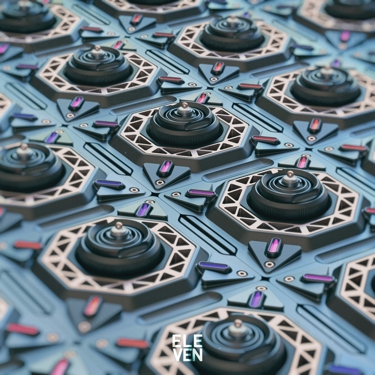 01.03.17 Mech Tiles.02 - 3d, thea - conquestofninjacats | ello