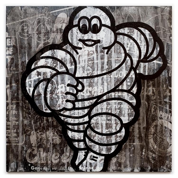Michelin Man color screen print - conartstudio | ello