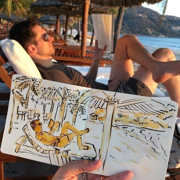 Beach reading Mexico - zihuatanejo - chenreichert | ello