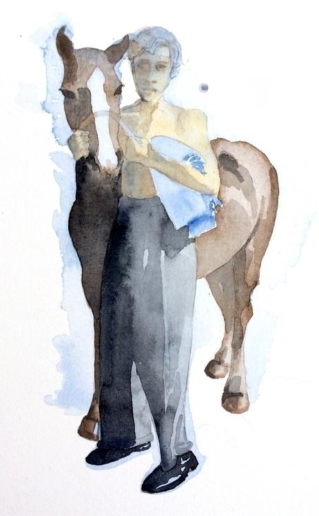 1940 - akvarell, watercolor, paper - vasagatan | ello